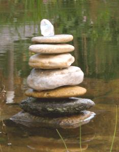 Steine im Wasser 3